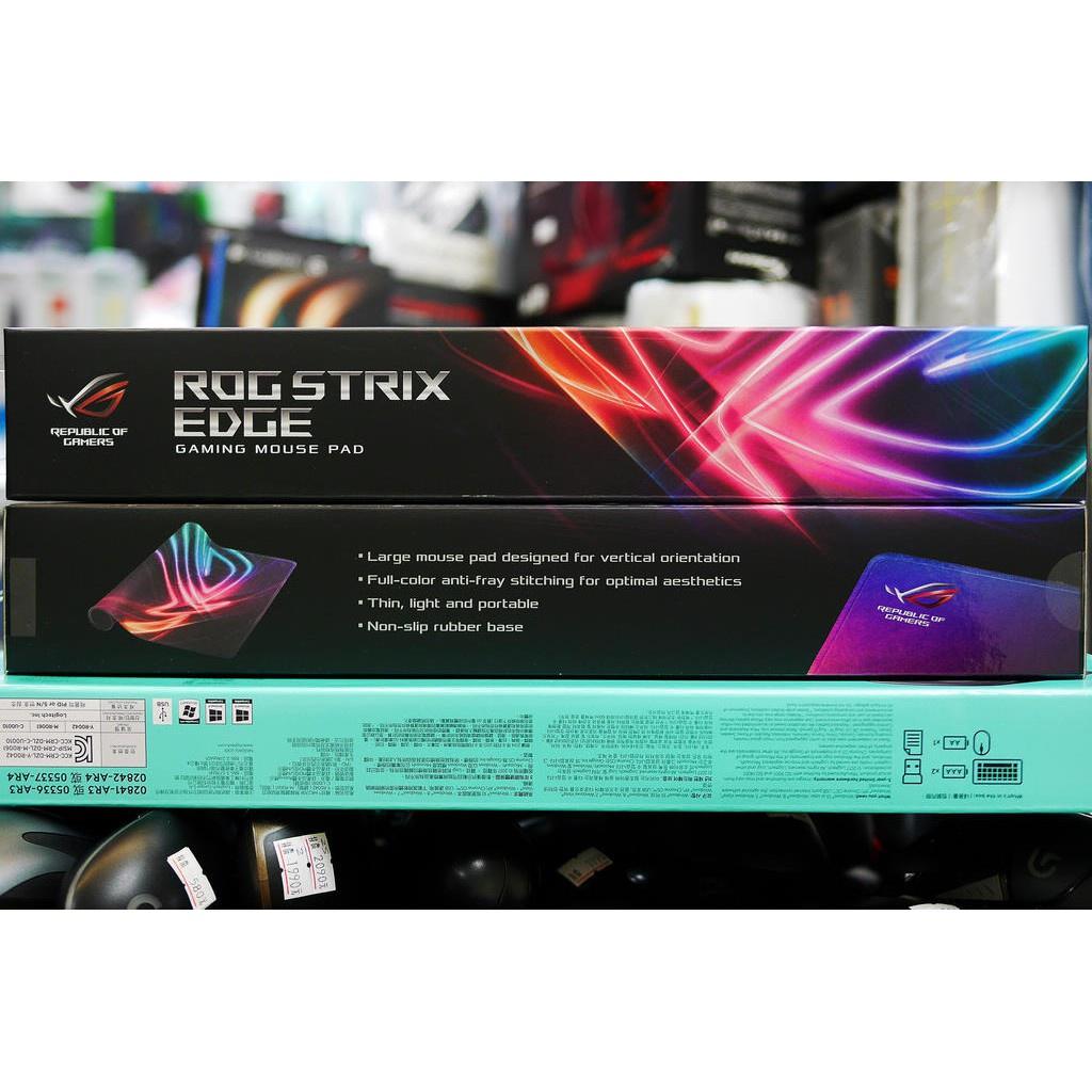 海外出货#本店吳銘 - 華碩 ASUS ROG Strix Edge 直版電競滑鼠墊 布質