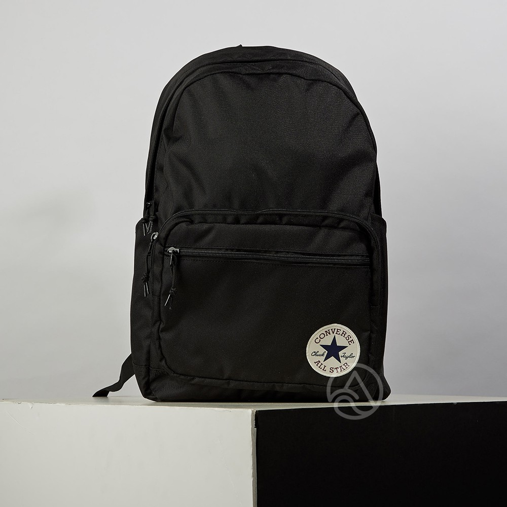 Converse GO 2 Backpack Black 黑 圓標 休閒 後背包 10020533-A01