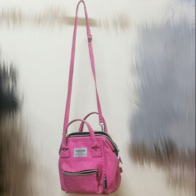 NUMANNI 桃粉色可拆背帶側背包 後背包