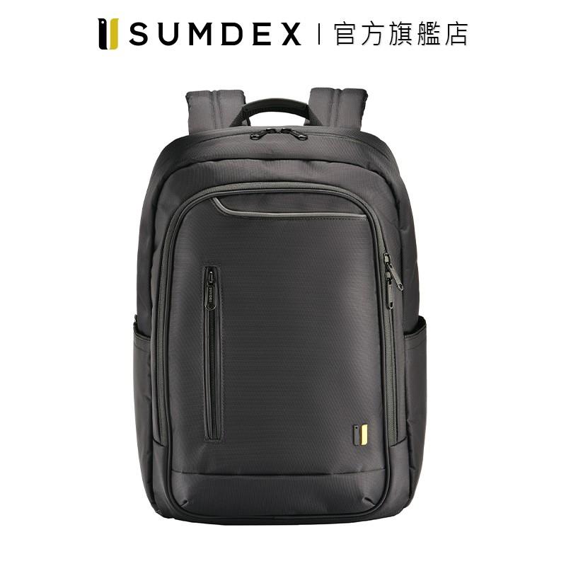 Sumdex 15.6″ 都會商務雙肩電腦後背包 PON-160BK 黑色 官方旗艦店