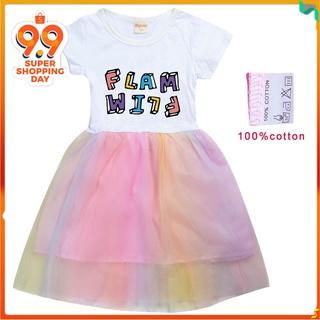 卡通童裝裙子 夏天短袖連衣裙 Flamingo Flim Flam 8582