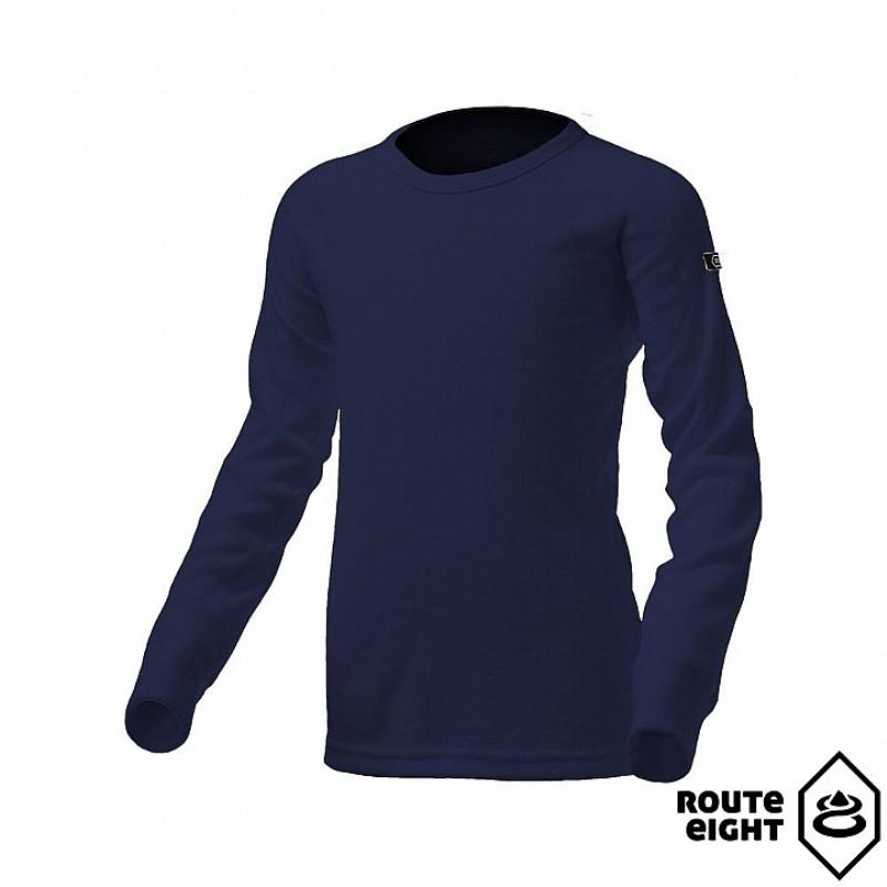 Route8八號公路 RE851001-NVY [ 童 WARM 圓領保暖衣 ] 海軍藍