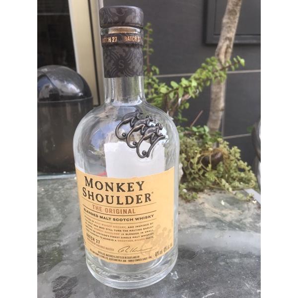 MONKEY SHOULDER Scotch 經典 空酒瓶 瓶子 供收藏 750ml