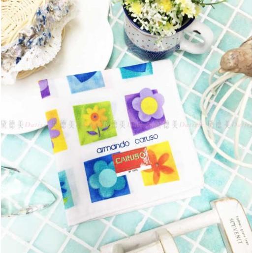 日本製 armando caruso 方塊 格子 愛心 花朵 小方巾 領巾 優雅 純棉 親膚 日本手帕