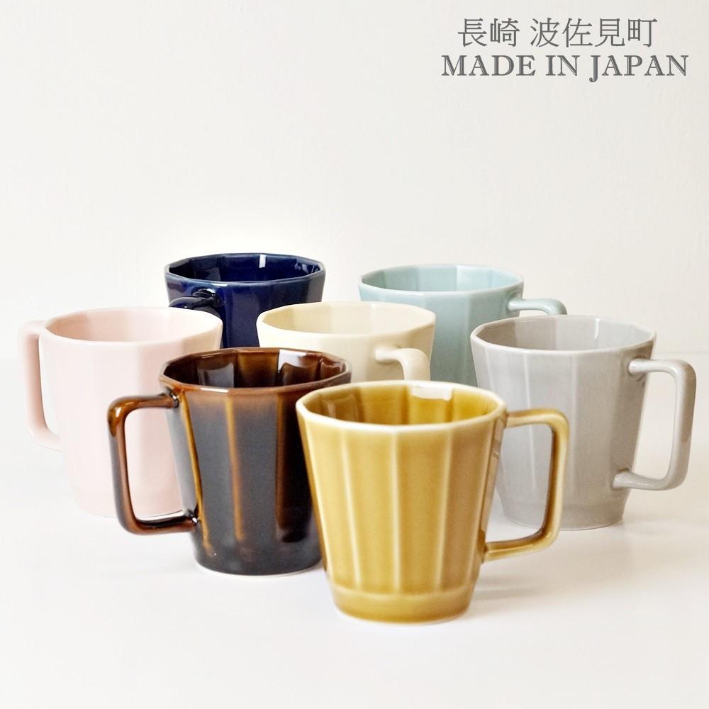 [偶拾小巷] 日本製 波佐見燒 重山陶器 12角形馬克杯