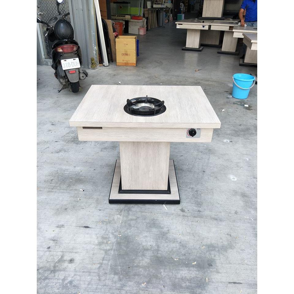 【承詮二手傢俱】木紋單口火鍋側桌(天然氣)A00507