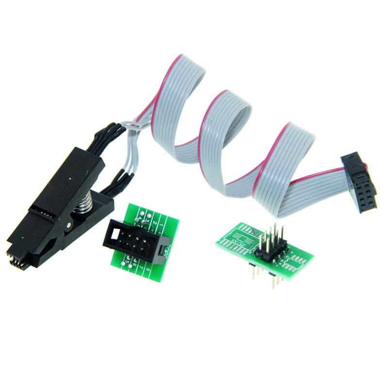 【AI電子】*(36-4)測試夾SOP8腳BIOS夾子寬窄體8腳通用夾適配夾燒錄芯片夾