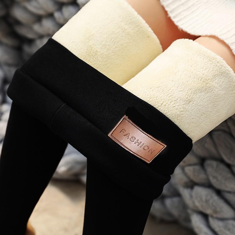 【全場2件折50現貨】超厚特厚羔羊絨內搭褲女褲冬季刷毛加厚外穿高腰一件式褲保暖褲棉褲