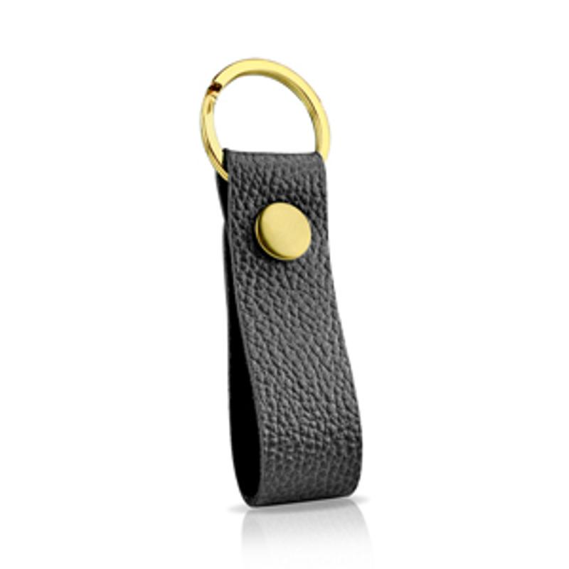 【EVOUNI】皮革鑰匙圈/黑