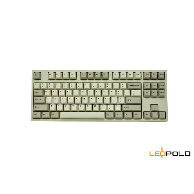 韓國Leopold FC750R PD 復古白灰鍵盤 PBT二射成型字體正刻-英文