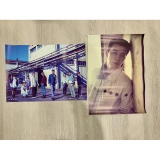 出清 SUPER JUNIOR 海報 TIMESLIP D&E BAD DEVIL 東海 銀赫 團體 九輯 十週年 SJ 新北市