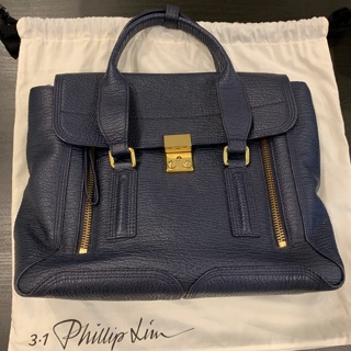 3.1 Phillip Lim Pashli Medium Satchel 深藍 中款 臺北市