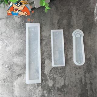 滿99元出貨全鏡面空白書籤模具透明矽膠滴膠模具 DIY手工模具