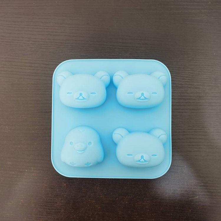 [bj]日本貝印同款輕松熊小黃雞蛋糕硅膠模具兒童輔食工具可蒸可進烤箱