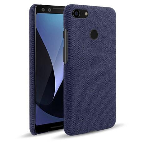 ⊕⊕﹍Google Pixel 3手機殼 防刮布紋手機皮套 谷歌Pixel3手機保護殼套