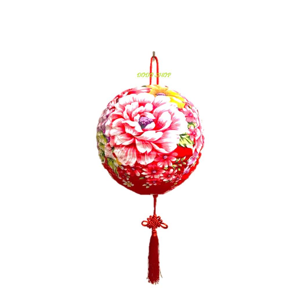 手工花布燈籠25cm/年節燈籠/客家燈籠/客製化燈籠/燈籠