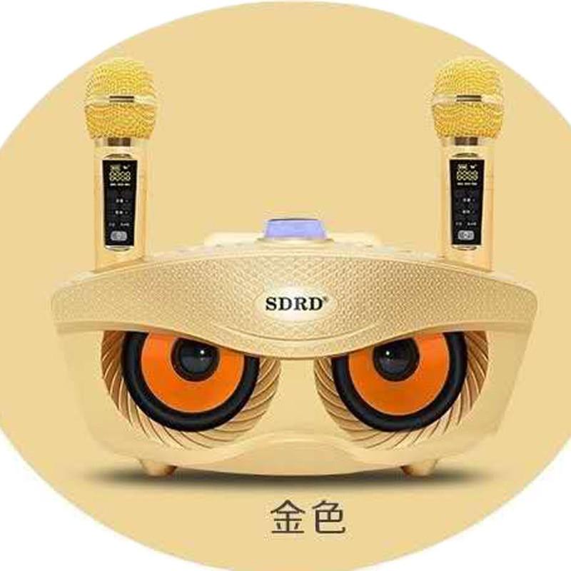 ♪SD306 PLUS 無線麥克風♪ 一體機自帶聲卡 音響 家庭KTV 藍牙音箱