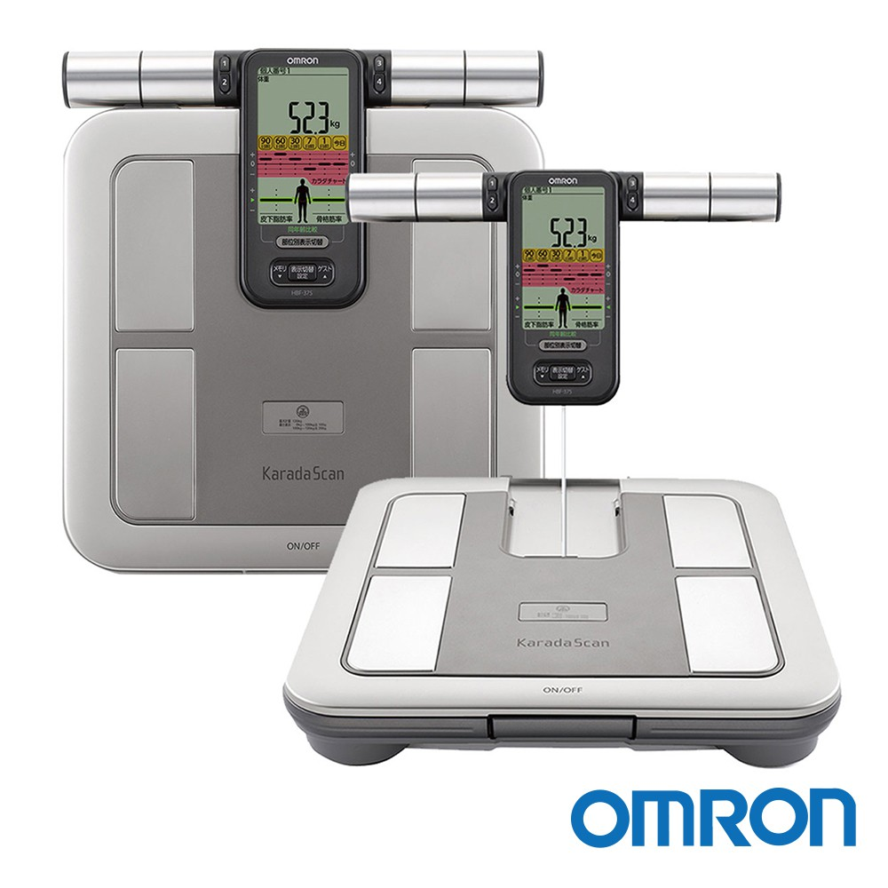 OMRON歐姆龍 體重體脂計 HBF-375 (鈦金灰)