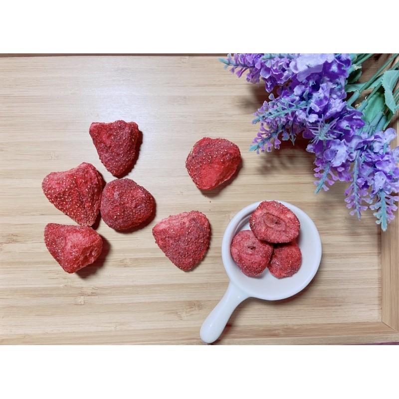 [現貨]自製乾燥草莓乾 原味不添加色素香料香精 倉鼠零食 倉鼠飼料 三線鼠 三線鼠零食 金熊零食