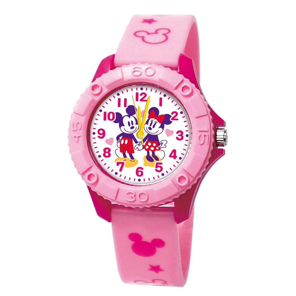 【Disney迪士尼】米奇米妮牽手趣  雙色殼兒童手錶