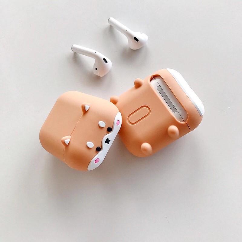 台灣出貨『柴犬』> Airpods 保護套 doge可愛呆萌 柴犬狗狗 硅膠耳機套 蘋果藍芽耳機Airpods Pro