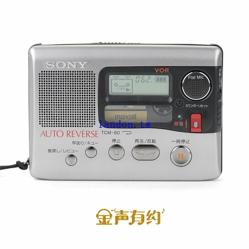 SONY TCM-80 索尼磁帶隨身聽 walkman 磁帶機 學英語 外放揚聲器