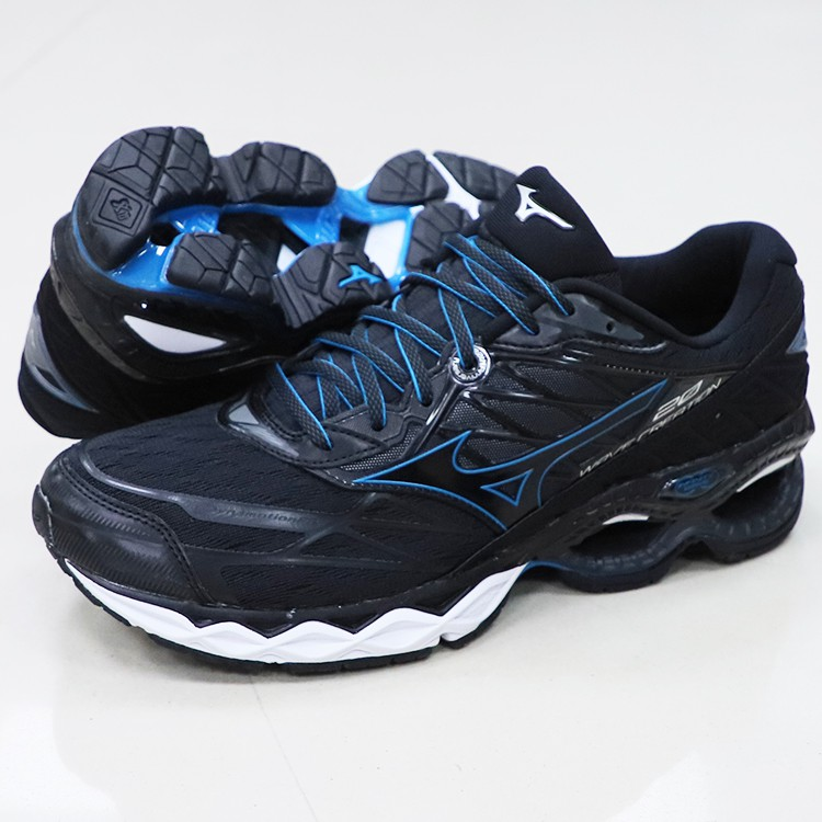 * 世偉體育 *【美津濃MIZUNO】 WAVE CREATION 20 一般型男款慢跑鞋 J1GC190109(黑x黑