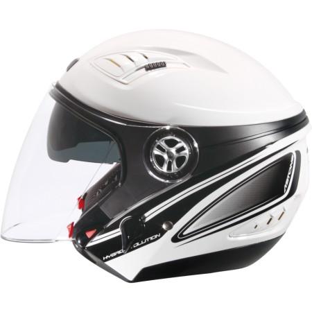 ASTONE DJ10C-OO08 白黑 內墨鏡 透氣 吸濕排汗 全可拆洗 3/4罩 安全帽《淘帽屋》