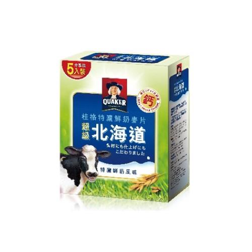 桂格 超級北海道特濃鮮奶麥片 (28g/5包/單盒)【杏一】