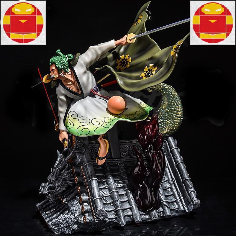 海賊王gk和之國索隆和服超巨大公仔 三龍索隆 龍捲風黑珍珠 魯夫四檔大型模型雕像擺件人偶禮物 GK公仔模型
