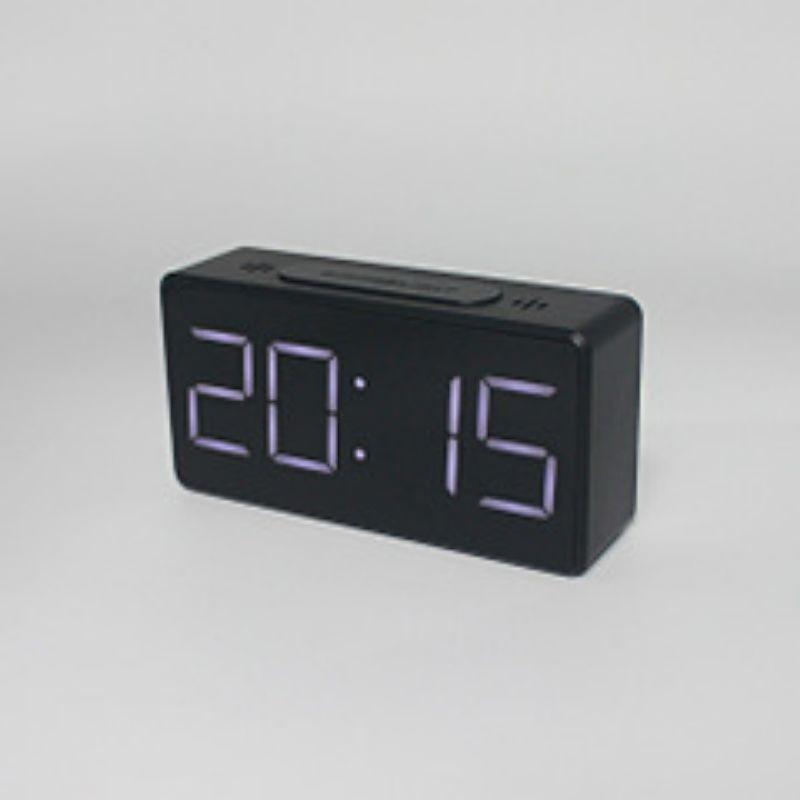 高檔時尚大方簡約電子鐘LED鬧鐘牀頭鍾學生鬧鐘鏡面鍾