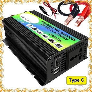 唐一代3000W 12V 至 220V/ 110V 汽車電源逆變器轉換器充電器適配器雙 USB 電壓互感器修正正弦波