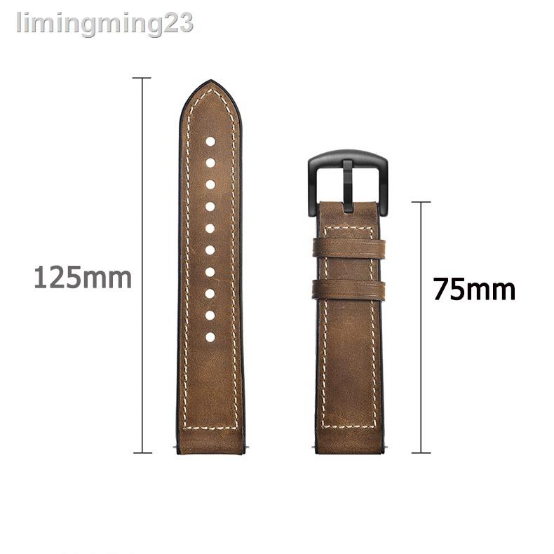 ✕Huami Amazfit Gts 2 Gts2 Mini 的真皮錶帶矽膠錶帶