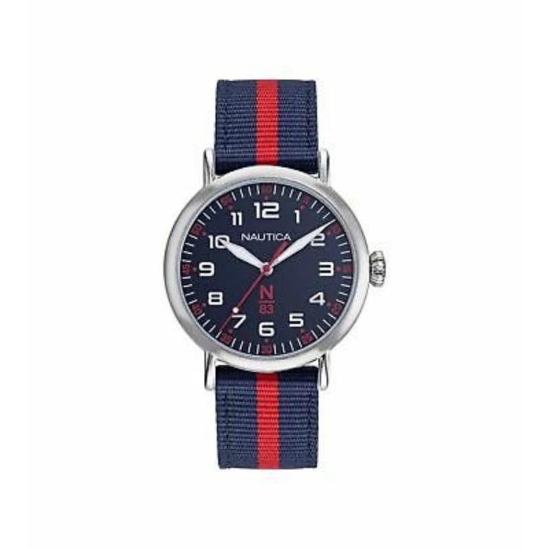 Nautica 中性手錶 NAPWLF922 Wakeland 40mm 藍色錶盤 N83 尼龍手錶