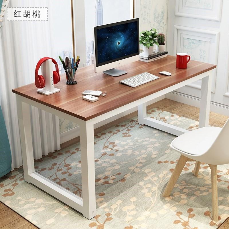 電腦桌鋼木書桌80/100/120/140/160寬40/50/60/70/80cm高74雙人桌