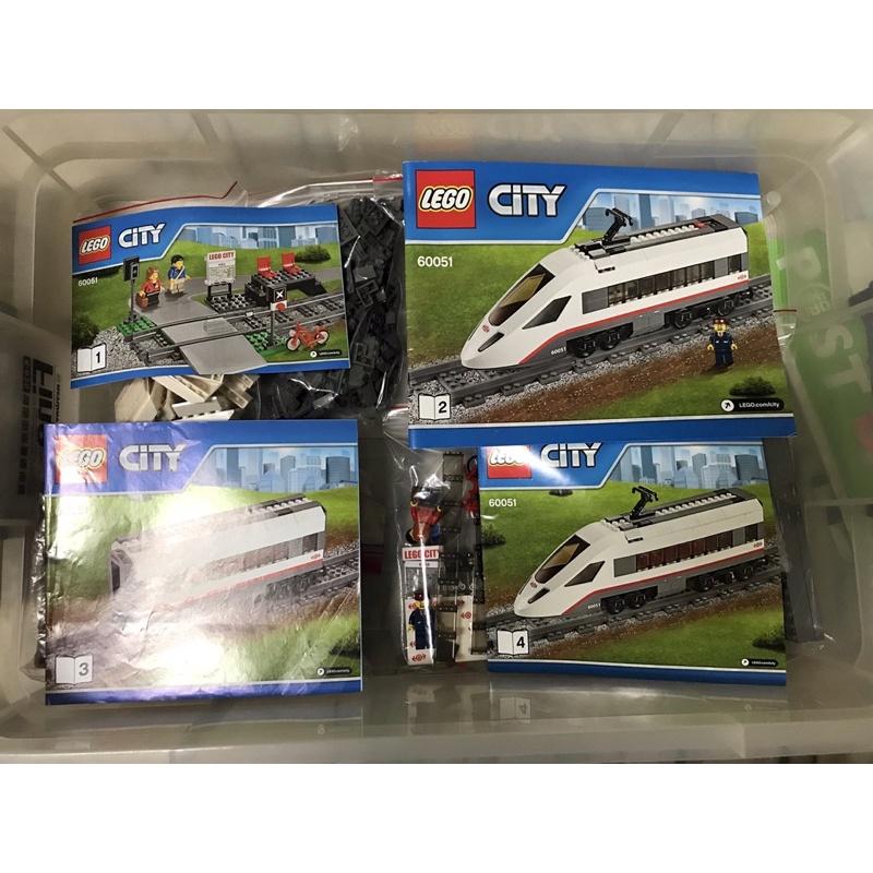 LEGO 60051 CITY 城市系列 高速客運列車 火車 車站 列車 新幹線 高鐵 捷運 免運