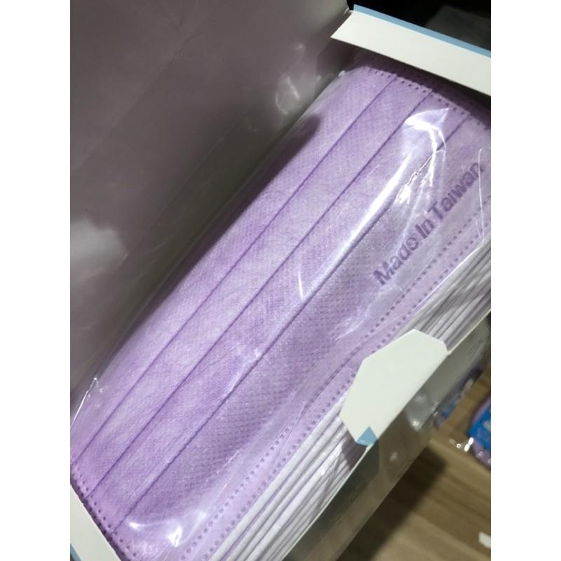白色、紫色/台灣製MIT天絲柔口罩成人版~回購再折扣!
