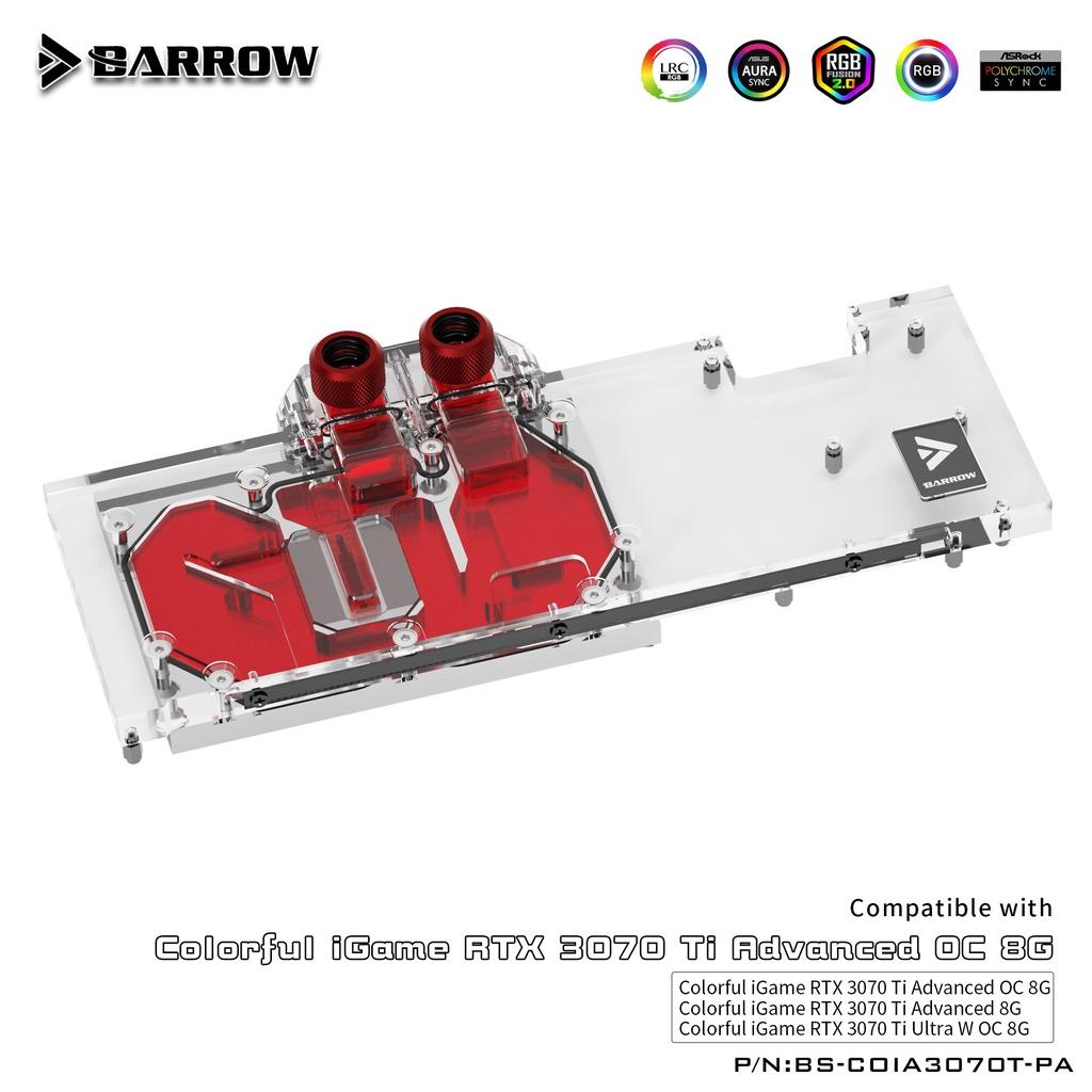 Barrow GPU 水塊, 用於彩色 iGame RTX 3070 TI Advanced OC / Ultra W