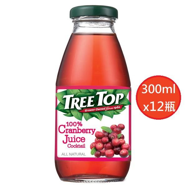 TREE TOP 樹頂100%汁 蔓越莓綜合果汁300ml(12瓶)(玻璃瓶)