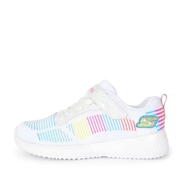 Skechers Bobs Squad [302379LWMLT] 童鞋 運動 休閒 輕量 舒適 減震 記憶鞋墊 白