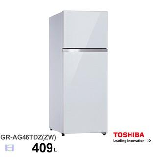 TOSHIBA東芝409公升雙門鏡面玻璃變頻冰箱貝殼白色GR-AG461TDZ(ZW) 新北市