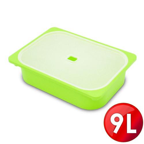 WallyFun 屋麗坊 亮彩儲物收納盒9L(綠)