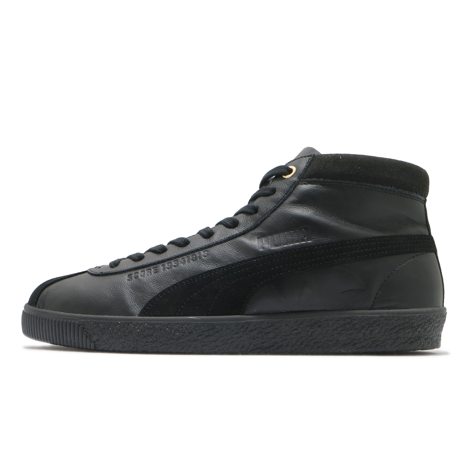 Puma 休閒鞋 Basket 68 Sonic 黑 金 男女鞋 音速小子 聯名款 中筒 【ACS】 37343001