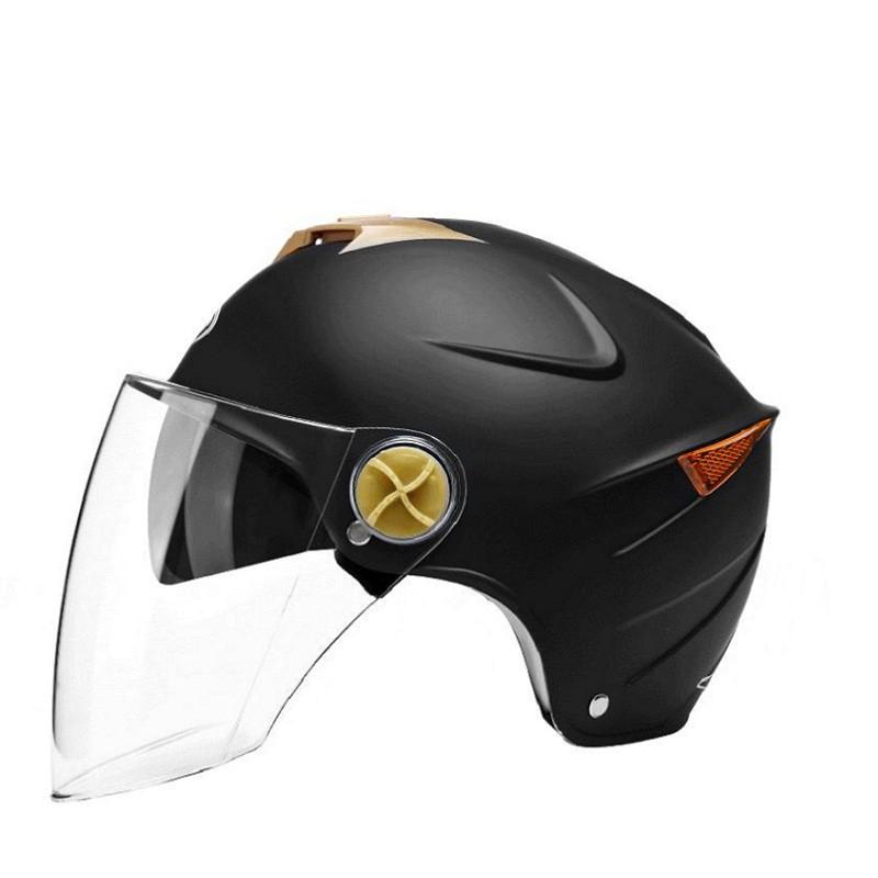 AD電動電瓶車頭盔灰男女士四季夏季防曬半盔輕便全盔可愛安全頭帽