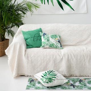 【北歐 純色 沙發毯】 沙發蓋布 四季 通用 網紅單人ins風沙發墊線毯沙 發套罩 沙發墊 沙發毯 沙發套 沙發坐墊 桃園市