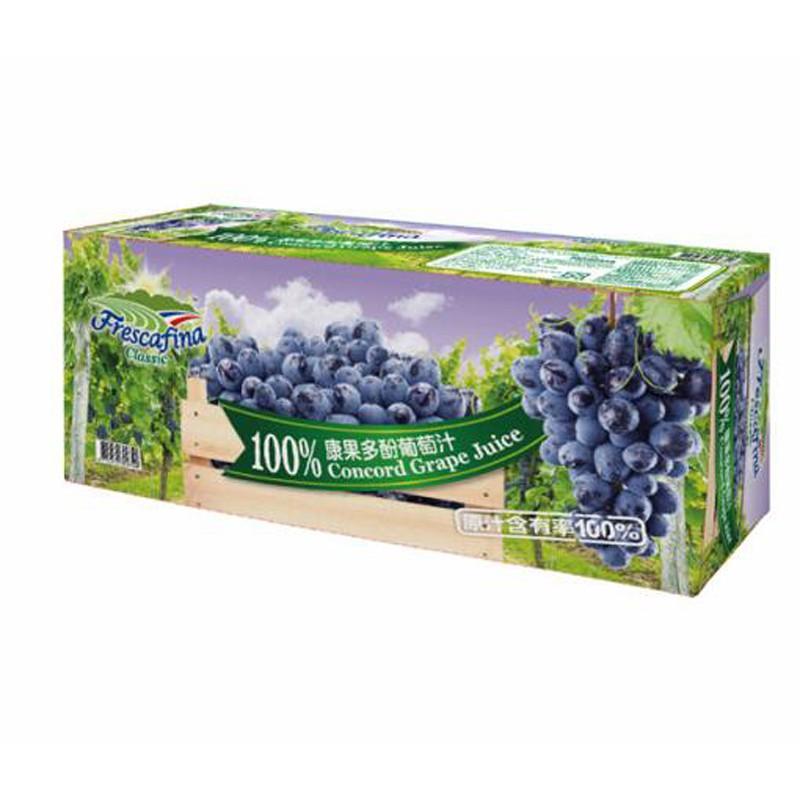 嘉紛娜 100康果多酚多酚葡萄汁 250毫升 X 24入 C111426 單筆限購1箱