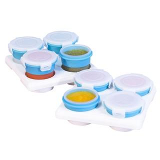 2angels 副食品矽膠儲存杯/ 冰磚盒超值組-60ml+120ml【衛立兒生活館】 高雄市