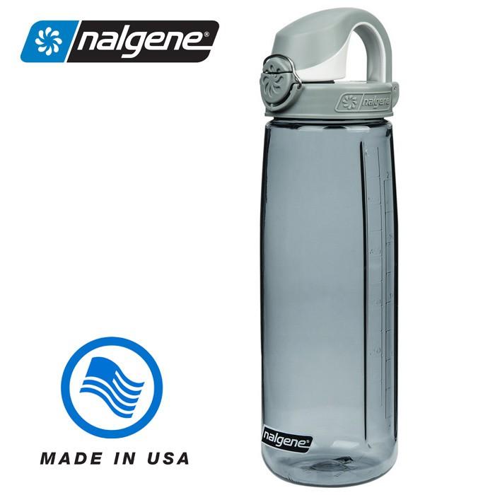 【Nalgene 美國】650ml OTF 運動水壺 水瓶 隨身水壺 無雙酚A 灰色∕灰色 (5565-8024)