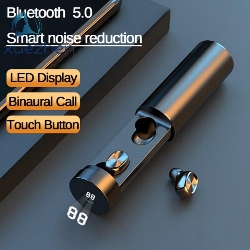 B9 TWS耳機藍牙5.0無線高保真運動耳機觸摸控制耳塞,帶可充電盒