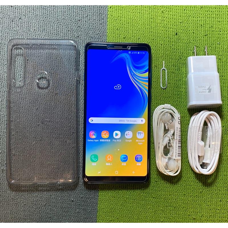 Samsung A9 2018 A920 128G 藍 無傷95成新 6.3吋 雙卡雙待 三星 二手機 面交 貨到付款